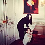 In a flashback photo, Madonna showed off a time when she and a little Lourdes played at the piano. Source: Instagram user madonna