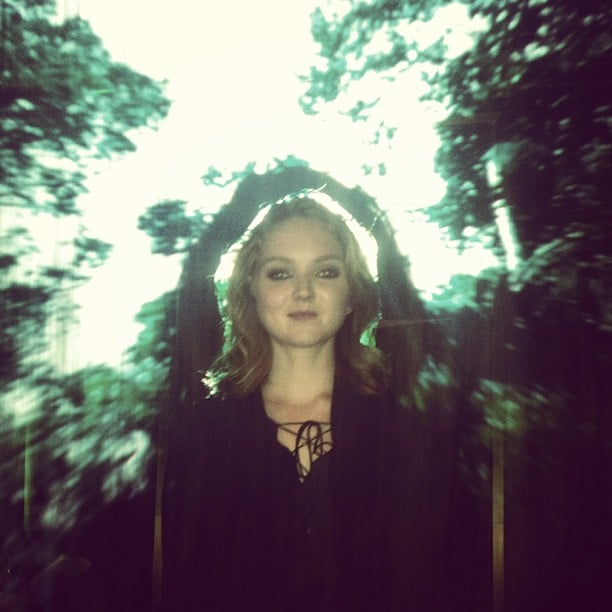 Lily Cole shared a dreamy-looking forest photo. Source: Instagram user lilycole