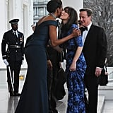Samantha Cameron in Alessandra Rich