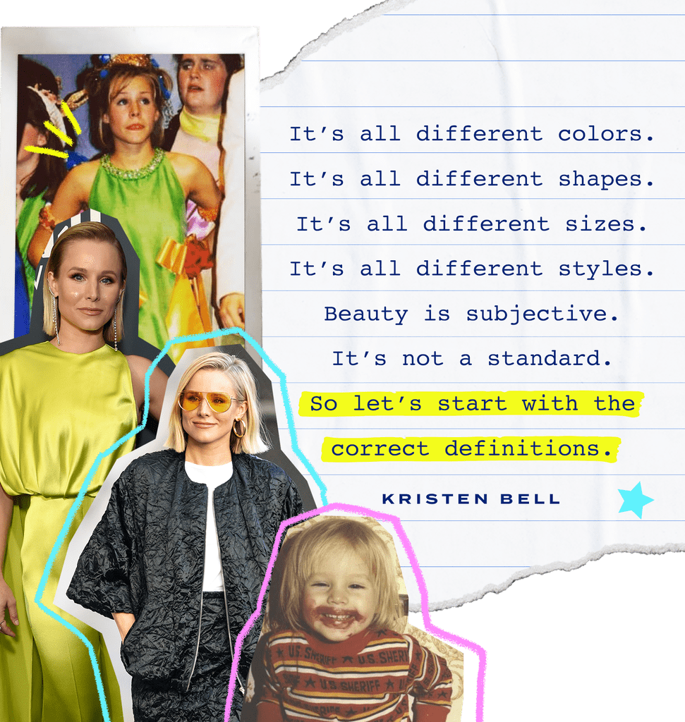 "Now, as a mom herself, Bell wants to impart some of her own lessons to her kids — not just around beauty itself, but around beauty standards, self-esteem, and building confidence. (Because there's definitely no standing in line at Hudson's in their future.)  ""I want to teach them that number one, beauty is a rainbow,"" she said. ""It's all different colours. It's all different shapes. It's all different sizes. It's all different styles. Beauty is subjective. It's not a standard. So let's start with the correct definitions.""  She continued, ""Beauty is also a feeling; it's not a visual. And that you will feel attractive if you are happy, you will be happy if you have self-esteem, you will have self-esteem if you are doing esteemable acts, whether that's helping someone because you can, maintaining joy and trying to spread it, actively trying to reduce someone else's suffering, or taking some time for yourself. Anything that makes you feel happy, you will feel attractive."" That's right, everyone: Clinique Bonus or not."
