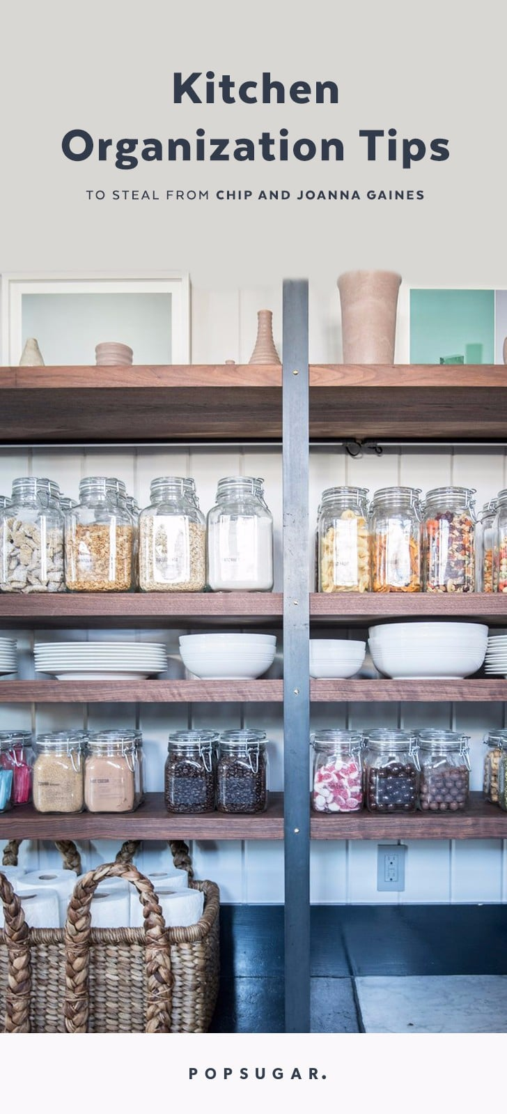 Chip and Joanna Gaines Kitchen Organization Tips