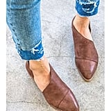 Slip-On Leather Flats