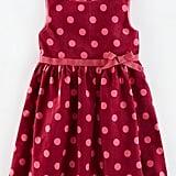Mini Boden 'Spotty' Velvet Fit & Flare Dress