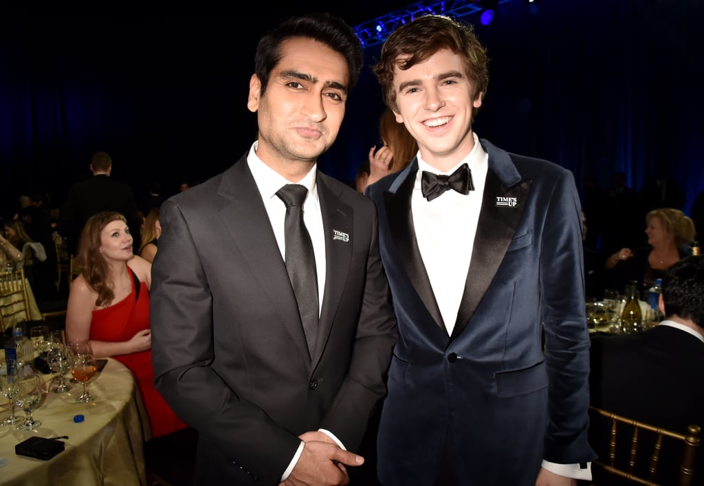 Pictured: Kumail Nanjiani and Freddie Highmore