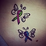 Twin Miscarriage Ribbon Butterflies