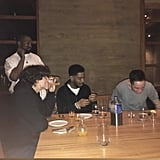 Kid Cudi, Timothée Chalamet, Pete Davidson Dinner Jan. 2019