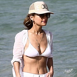 Giada De Laurentiis on the Beach in Miami February 2019