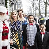 Queen Máxima attends a Christmas gala in Amsterdam.