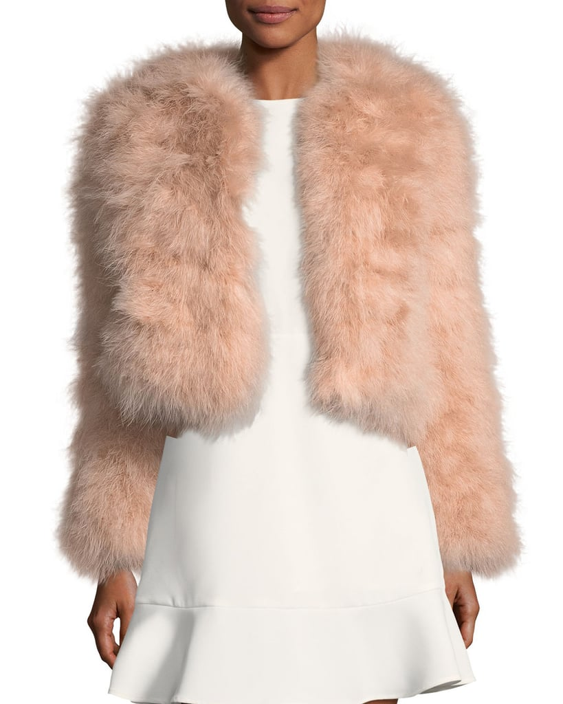 An on-trend fur jacket