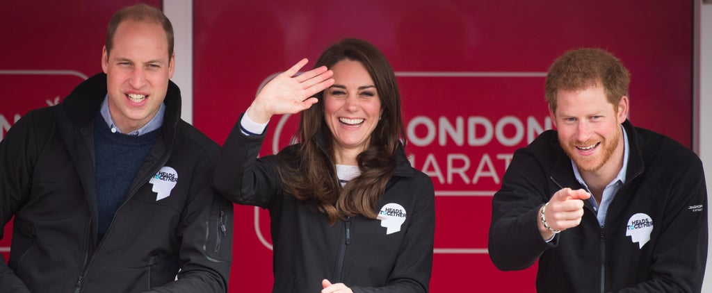 William, Harry, and Kate Are the Ultimate Cheerleaders at the London Marathon
