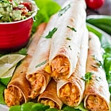 Baked Creamy, Cheesy Chicken Flautas