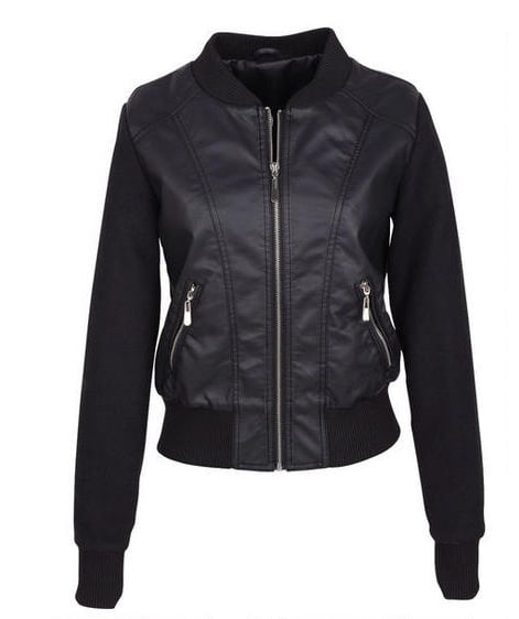 Plan on seeing bomber jackets everywhere this Fall. If you like the look in leather, try this Delia's option ($45).