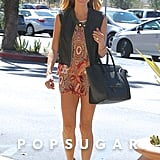 Kristin Cavallari smiled while out in LA on Thursday.