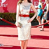 Zooey Deschanel sparkled on the red carpet.