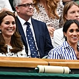 Related:                                                                                                           Duchesses' Day Out! Kate and Meghan Show Off Their Close Bond at Wimbledon