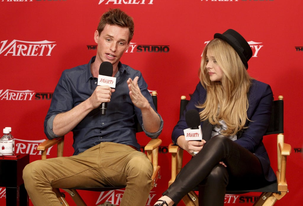 Eddie made himself comfortable with Hick co-star Chloë Moretz.