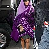 Cardi B Purple Blanket