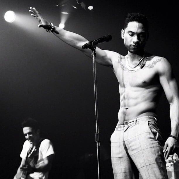 Singer miguel shirtless