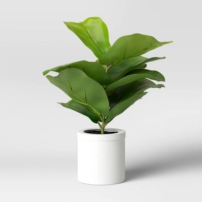 Threshold Artificial Fiddle Leaf Plant in Pot