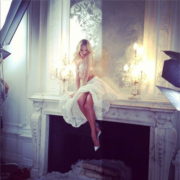 Candice Swanepoel finished another shoot for Victoria's Secret.