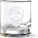 Williams Sonoma Halloween Skull Old-Fashioned Glass