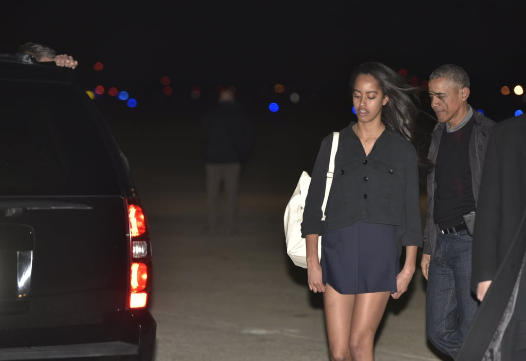 Malia Showed Off Her Legs in a Short Dress Style
