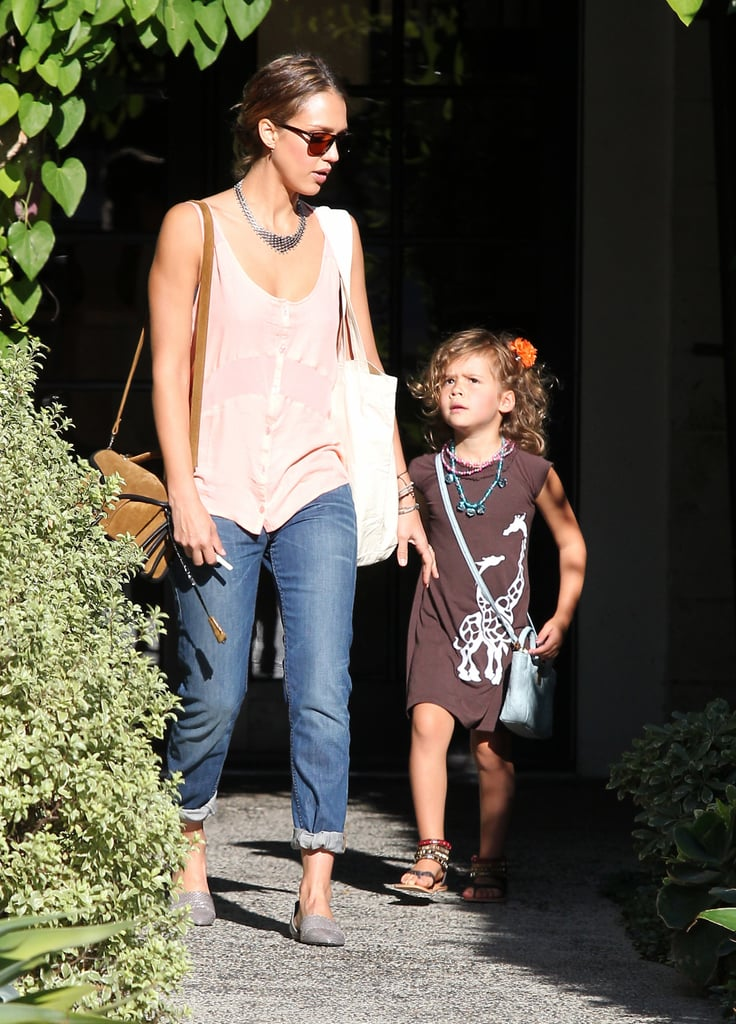 Jessica Alba and Honor Warren had a mother-daughter day at the hair salon.