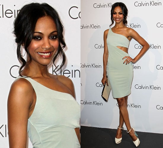 Pictures of Zoe Saldana in Calvin Klein in Berlin