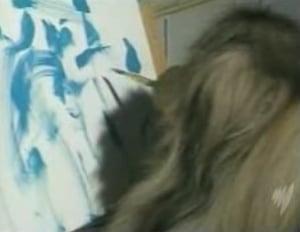Ziggy the Painting Dog