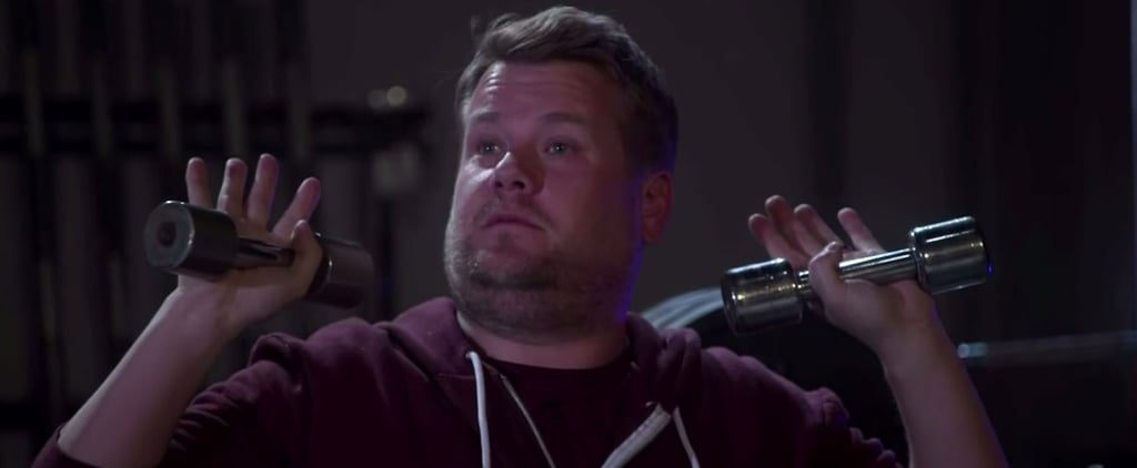 "James Corden Spoofs Kanye West ""Fade"" Video"