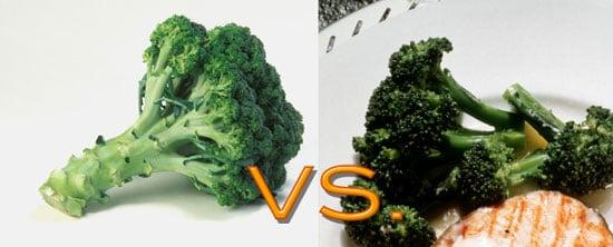 Raw vs. Cooked: Veggie Edition