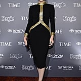 Mad Men's Jessica Paré went to People and Time's bash.