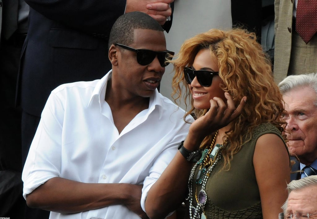 Jay Z gave Beyoncé a sweet grab while watching the US Open in June 2010.