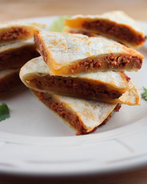 Spicy Soy Chorizo Quesadilla