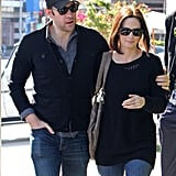 John Krasinski and Emily Blunt Share a Loved-Up Lunch Date