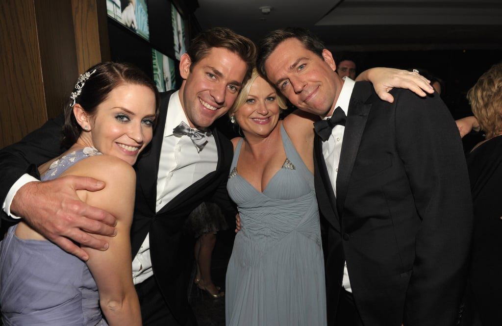 The couple linked up with fellow funny people Amy Poehler and Ed Helms at the Emmys after party in Aug. 2010.