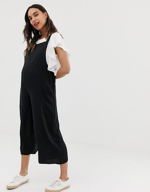 New Look Maternity overall jumpsuit in black | ASOS