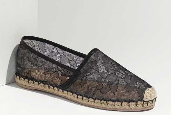 We're enamored of these romantic sheer lace espadrille flats, and while they certainly toe a more laid-back vibe, we think they'll bode well with fitted white cropped trousers and a silky blouse on a casual Friday. Valentino Flat Lace Espadrille ($475)