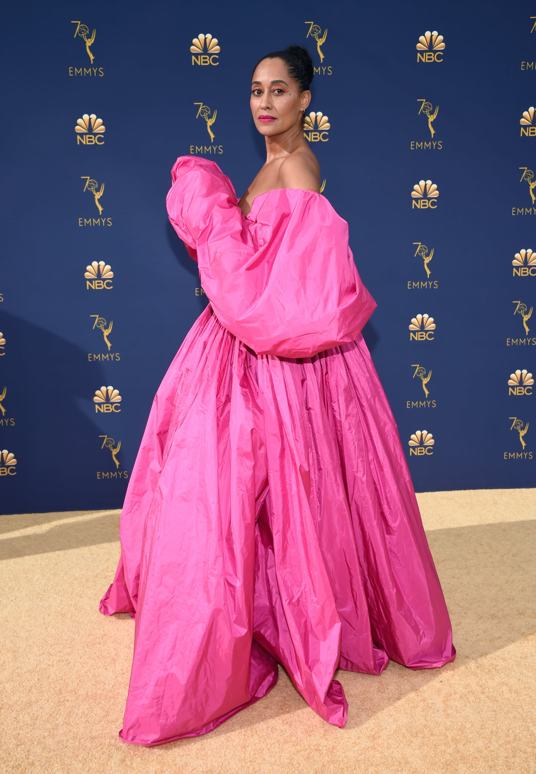 Tracee Ellis Ross in a Pink Valentino Gown at the 2018 Emmys ...