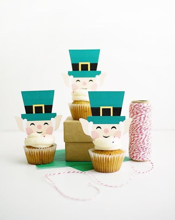 picture regarding Leprechaun Printable known as Printable Leprechaun Cupcake Toppers Totally free Printables For