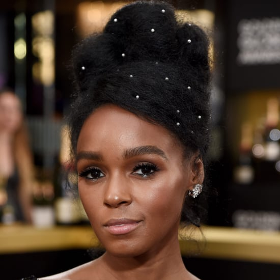 Janelle Monae's Hair at the Golden Globes 2017