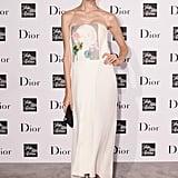 Sasha Luss showed her flower power in Dior at Saks.