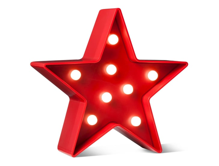 Fourth of July Red Battery-Operated Lit Decor Star