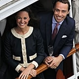 Pippa and James Middleton smiled aboard the Spirit of Chartwell.