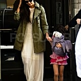 Katie Holmes takes Suri Cruise out in NYC to celebrate her 6th birthday.