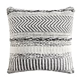 Farmhouse Stripe Square Mineral Blue Pillow