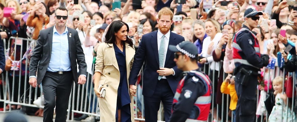 Meghan Markle Wearing Necklace Boy Made for Her in Australia