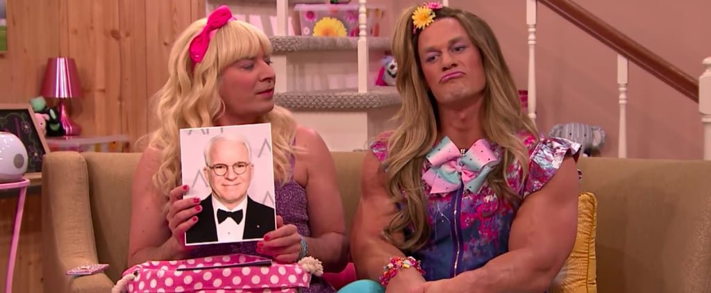 "Try Not to Wet Your Pants Watching John Cena Play a Schoolgirl in This Hilarious ""Ew!"" Skit"