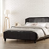 Zinus Sculpted Faux Leather Upholstered Platform Bed