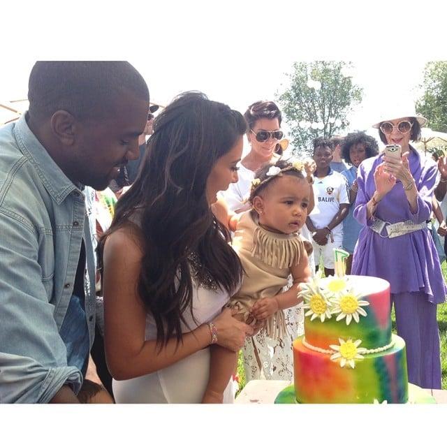 Kim Kardashian and Kanye West celebrated their daughter North West's first birthday with Kidchella. Source: Instagram user kimkardashian